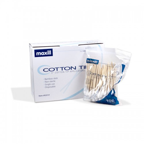 maxill Cotton Tip Applicators 3""
