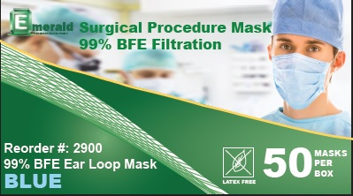 Pleated Earloop Mask 99%BFE Carbon