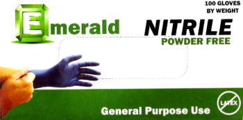 Emerald Nitrile PF GP Gloves Small