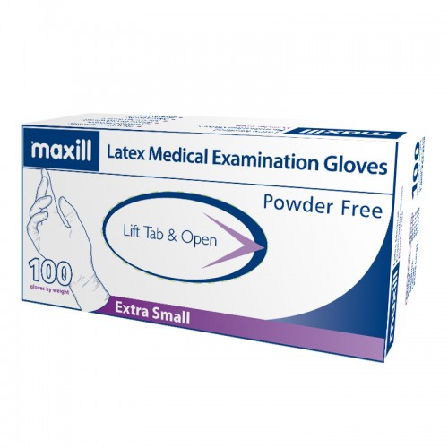 maxill Latex Gloves Powder Free - Extra Small