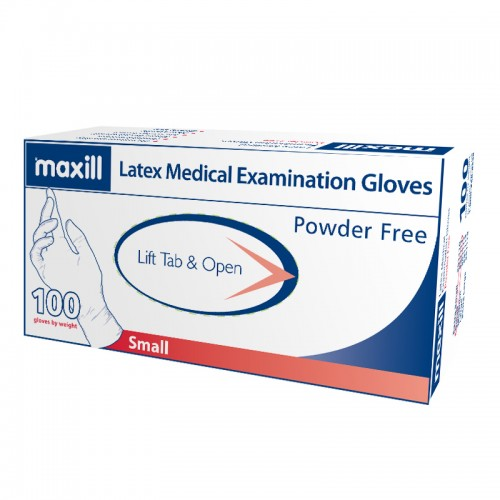 maxill Latex Gloves Powder Free - Small