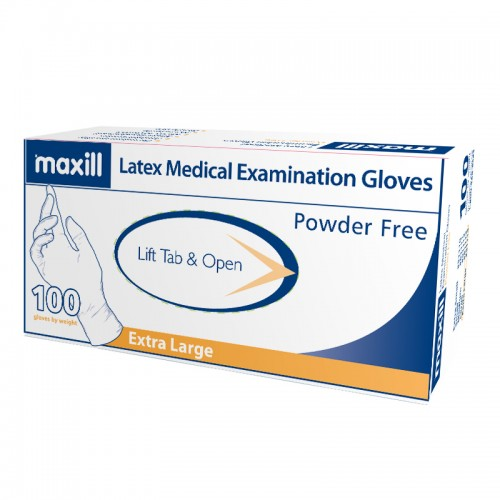 maxill Latex Gloves Powder Free - Extra Large